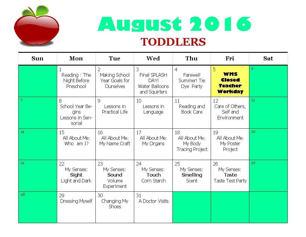 HC August Toddlers 2016