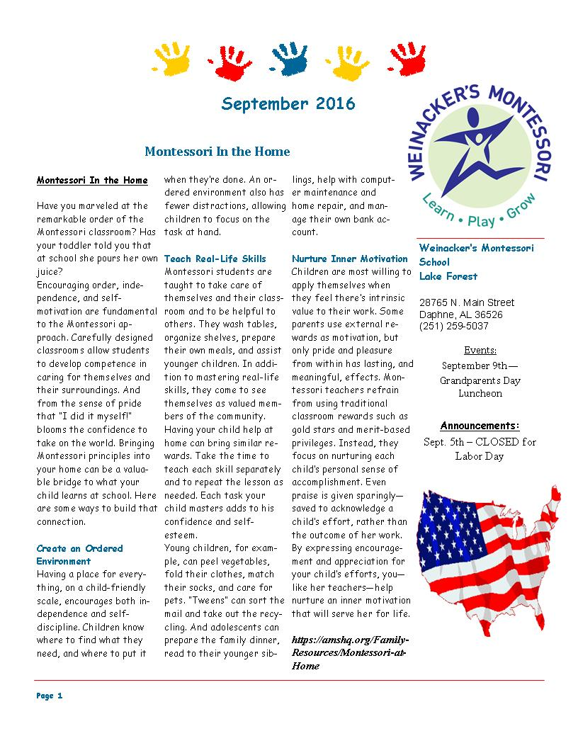 LF September Newsletter 2016