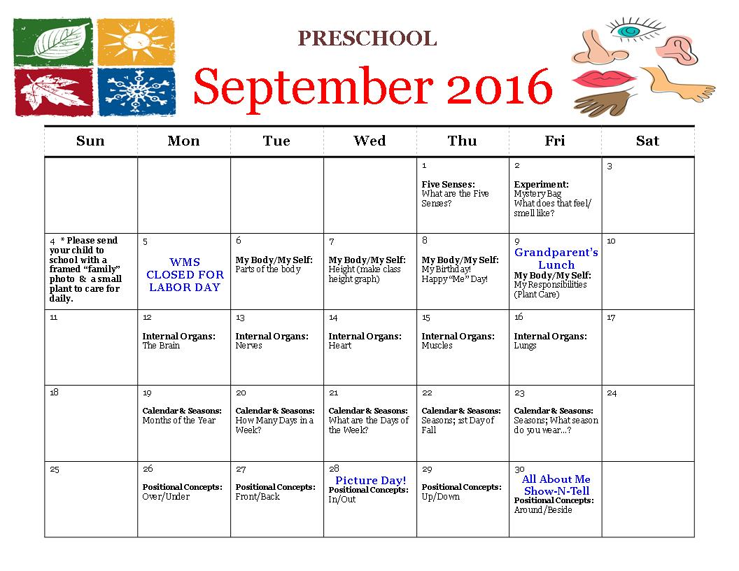 Kindergarten September Worksheets
