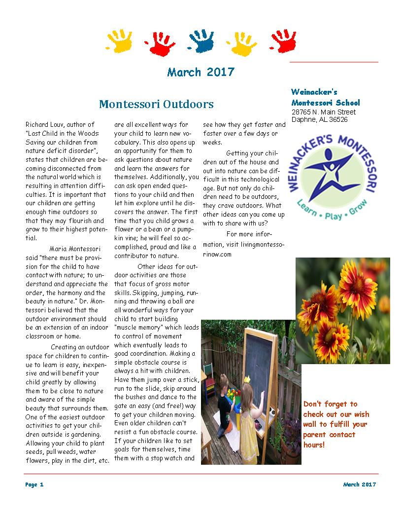LF 1 March 2017 Newsletter
