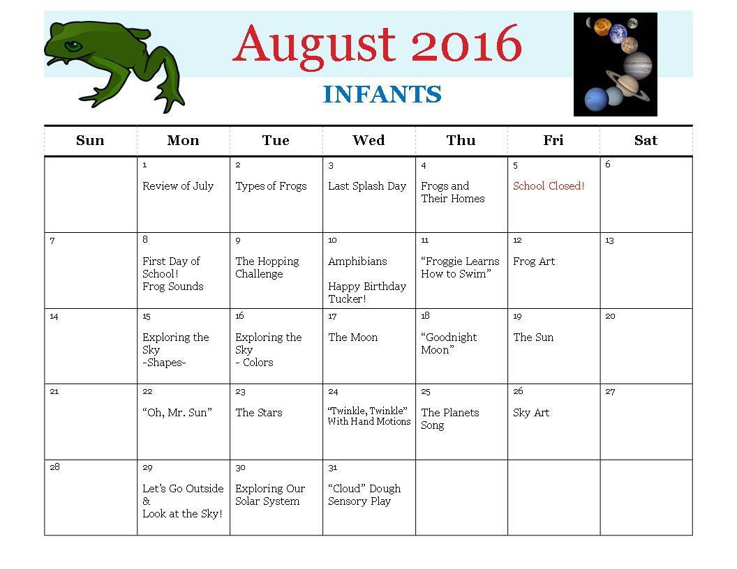 HC Aug 2016 Infants