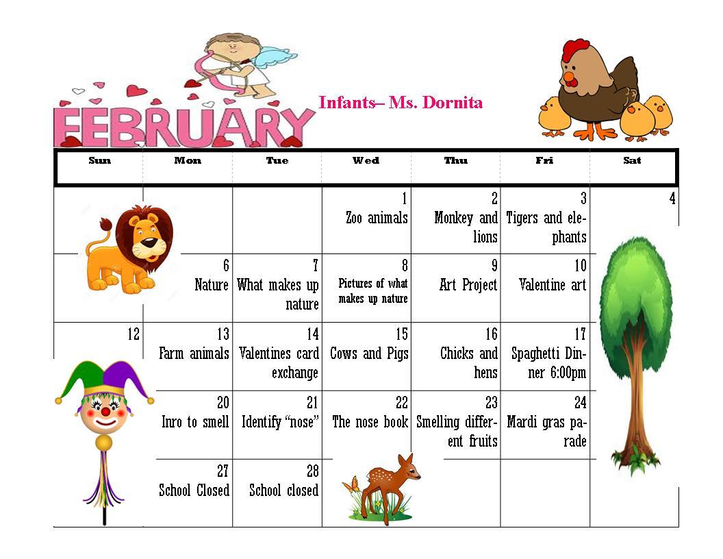 UN Feb Infants calendar