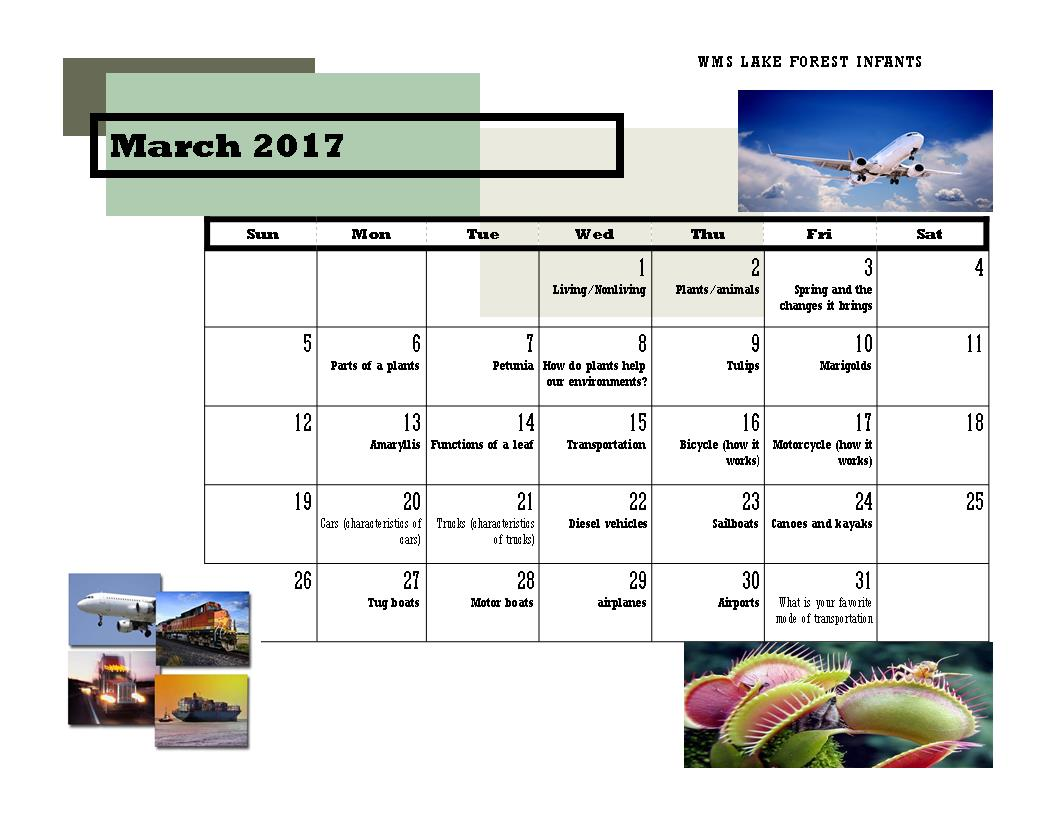 LF infant calender march